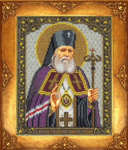 Вышивка бисером святитель лука крымский 9