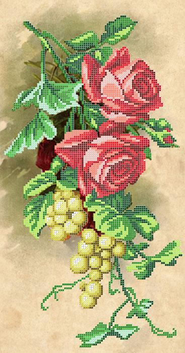 Виноград с розами вышивка 349