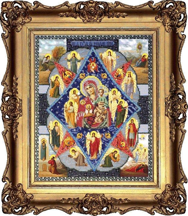 Вышивка бисером икона неопалимая купина 311