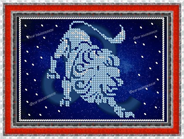 Схема вышивки знаков зодиака лев