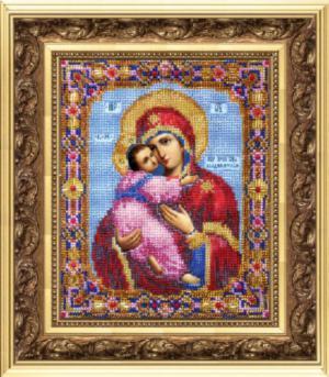 Владимирская божья матерь вышивка бисером 8