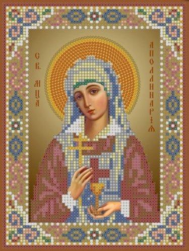 Икона аполлинария вышивка бисером
