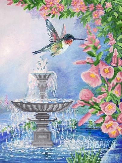 Вышивка бисером фонтаны